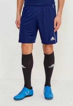 Шорты спортивные, adidas, цвет  синий. Артикул  AD002EMAMCB9. Одежда   Шорты a4873fd3d2d