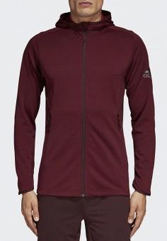 Толстовка, adidas, цвет  бордовый. Артикул  AD002EMCDGK0. Одежда    Толстовки и 5803605a307
