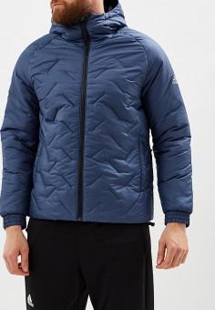 Куртка утепленная, adidas, цвет  синий. Артикул  AD002EMCDGO5. Одежда    Верхняя b6cdb638f21