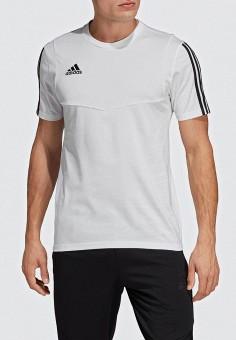 7c99a88442a34 Футболка спортивная, adidas, цвет: белый. Артикул: AD002EMEEHZ4. Спорт /  Футбол