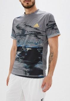 cea9967ebcfc Футболка спортивная, adidas, цвет: серый. Артикул: AD002EMFJZO3. Спорт /  Теннис