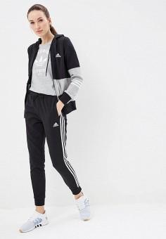 Костюм спортивный, adidas, цвет  черный. Артикул  AD002EWEEIO0. Спорт   Все a1ec8504213
