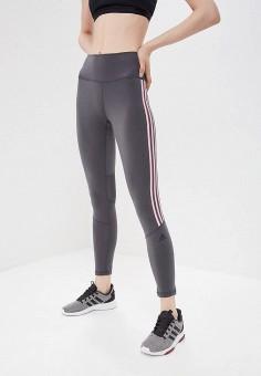 5a660286 Тайтсы, adidas, цвет: серый. Артикул: AD002EWEEIR6. Спорт / Фитнес /
