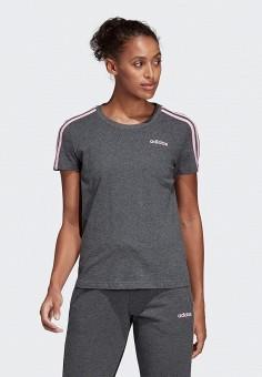 974b45b6f24d7 Футболка, adidas, цвет: серый. Артикул: AD002EWEGRP3. Спорт / Фитнес /