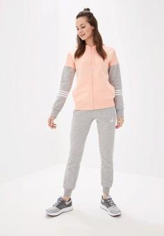 a18723a9 Костюм спортивный, adidas, цвет: розовый, серый. Артикул: AD002EWFKAC0.  Одежда