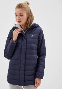f3d00ed1e9aaa Пуховик, adidas, цвет: синий. Артикул: AD002EWFKSK3. Одежда / Верхняя одежда