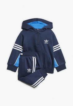 Костюм спортивный, adidas Originals, цвет  синий. Артикул  AD093EBCCZL5.  Мальчикам   1ca1fc332a1