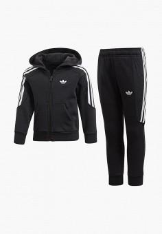 8814924c Костюм спортивный, adidas Originals, цвет: черный. Артикул: AD093EBEDUP7.  Мальчикам /