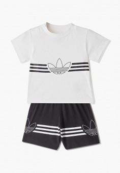 a06aa6ec0054a Костюм спортивный, adidas Originals, цвет: черный, белый. Артикул:  AD093EBFJWO7.