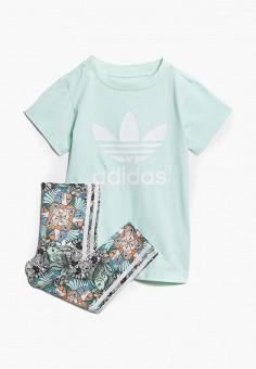 Костюм спортивный, adidas Originals, цвет  бирюзовый, мультиколор. Артикул   AD093EGCCZN2. ab74e2aaf24