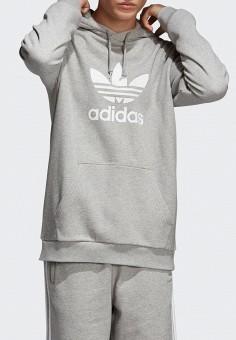 0086aac1 Худи, adidas Originals, цвет: серый. Артикул: AD093EMEESE2. Одежда /  Толстовки
