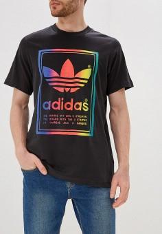 84093082 Футболка, adidas Originals, цвет: черный. Артикул: AD093EMFKPO5. Одежда /  Футболки