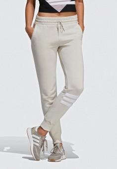 Брюки спортивные, adidas Originals, цвет  белый. Артикул  AD093EWEESM1.  Одежда 4401f3e299d