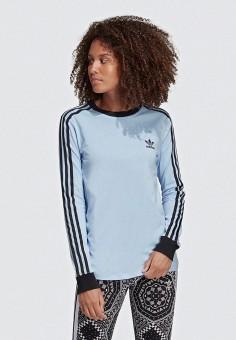 Лонгслив, adidas Originals, цвет  голубой. Артикул  AD093EWEESM7. Спорт    Все fa42fd58a38
