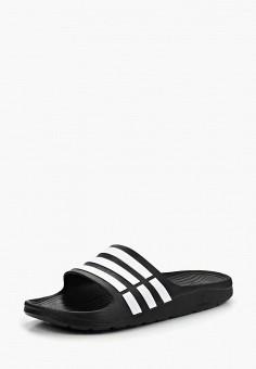 21abe24b Сланцы, adidas, цвет: черный. Артикул: AD094AUCAZ55. Обувь / Резиновая обувь