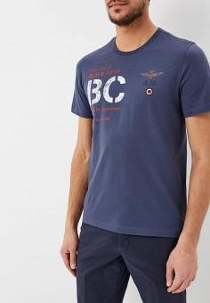 e1a4d3a1dfc5 Футболка, Aeronautica Militare, цвет  синий. Артикул  AE003EMDSMI9. Одежда    Футболки