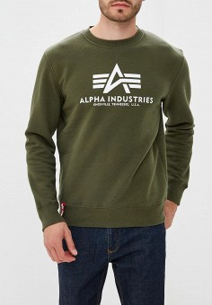 Свитшот, Alpha Industries, цвет: хаки. Артикул: AL507EMCCEK4. Alpha Industries