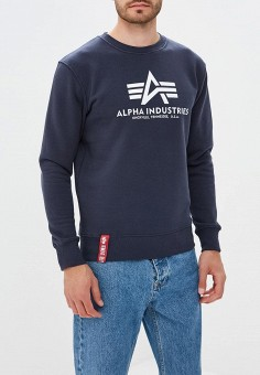Свитшот, Alpha Industries, цвет: синий. Артикул: AL507EMCCEK5. Alpha Industries