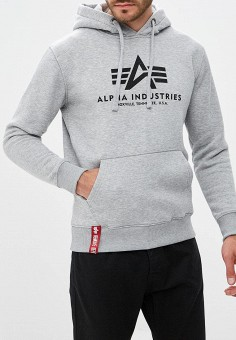 Худи, Alpha Industries, цвет: серый. Артикул: AL507EMCCEK9. Alpha Industries