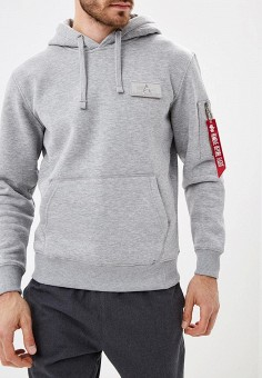 Худи, Alpha Industries, цвет: серый. Артикул: AL507EMCCEL0. Alpha Industries