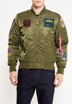 Куртка, Alpha Industries, цвет: хаки. Артикул: AL507EMUHK99. Alpha Industries