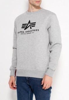 Свитшот, Alpha Industries, цвет: серый. Артикул: AL507EMUHN32. Alpha Industries
