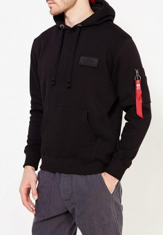Худи, Alpha Industries, цвет: черный. Артикул: AL507EMUHN38. Alpha Industries
