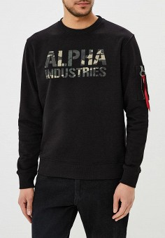 Свитшот, Alpha Industries, цвет: черный. Артикул: AL507EMZZR40. Alpha Industries