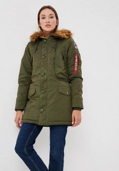 Парка, Alpha Industries, цвет: хаки. Артикул: AL507EWCCEF6. Alpha Industries