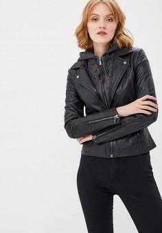 Куртка кожаная, Arma, цвет: черный. Артикул: AR020EWBTEH7.