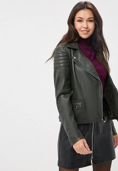 Куртка кожаная, Arma, цвет: хаки. Артикул: AR020EWBTEH9.