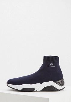 c53d0771 Кроссовки, Armani Exchange, цвет: синий. Артикул: AR037AMDPVQ7. Обувь /  Кроссовки