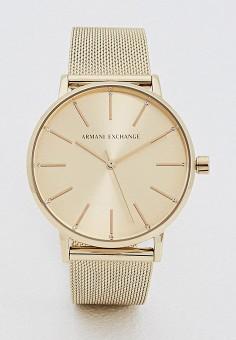 Часы, Armani Exchange, цвет  золотой. Артикул  AR037DWYNE07. Аксессуары    Часы 689a87ca337