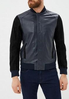 19058a50299c Куртка кожаная, Armani Exchange, цвет  синий. Артикул  AR037EMBLDK7. Premium