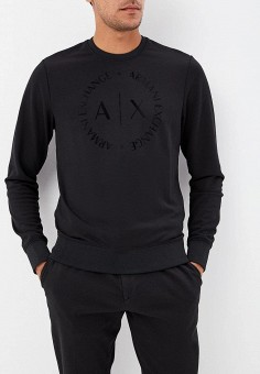 Свитшот, Armani Exchange, цвет: черный. Артикул: AR037EMBLDP4. Armani Exchange