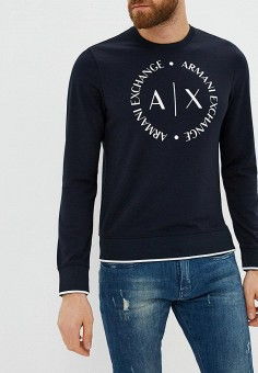 Свитшот, Armani Exchange, цвет: синий. Артикул: AR037EMBLDP5. Armani Exchange