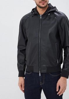 Куртка кожаная, Armani Exchange, цвет  черный. Артикул  AR037EMDSHK7. Одежда 56a7a6464c0