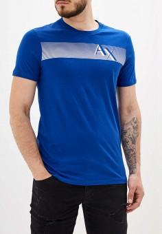 6a2768c37c919 Футболка, Armani Exchange, цвет: синий. Артикул: AR037EMFLNJ4. Одежда /  Футболки