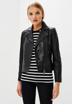 Куртка кожаная, Armani Exchange, цвет: черный. Артикул: AR037EWBLFA0.