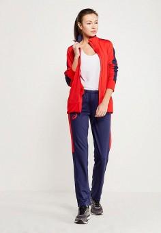29dd1c3f1b541 Костюм спортивный, ASICS, цвет: красный, синий. Артикул: AS455EWZTJ63.  Одежда