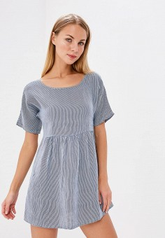Платье, Baon, цвет: синий. Артикул: BA007EWAYMC5. Одежда / Платья и сарафаны