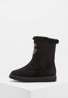 489bbe9aa Полусапоги, Baldinini, цвет: черный. Артикул: BA097AWCEGL6. Обувь / Сапоги