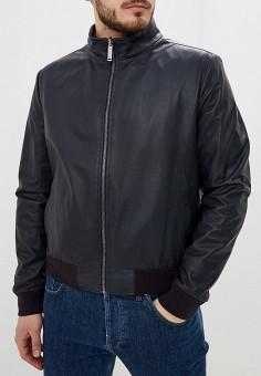 e6c1672ed Куртка кожаная, Baldinini, цвет: синий. Артикул: BA097EMEBOG4. Одежда /  Верхняя
