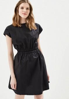 Платье, Befree, цвет: черный. Артикул: BE031EWAZZH0. Одежда / Платья и сарафаны
