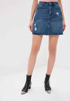 879a551899917 Юбка джинсовая, Befree, цвет: синий. Артикул: BE031EWDUNA1. Одежда / Юбки