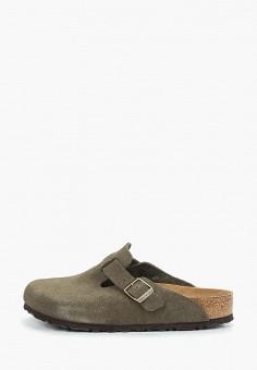 Сабо, Birkenstock, цвет  зеленый. Артикул  BI536AWCHXB5. Обувь   Сабо и b9618b0892a
