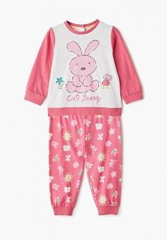 0a938e8d78a5e Пижама, Blukids, цвет: белый, розовый. Артикул: BL025EGENRB9. Девочкам /