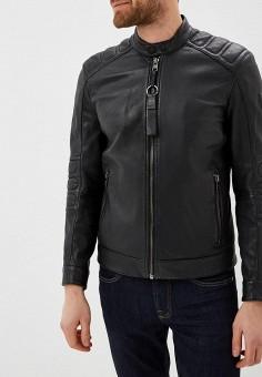757e1e70e951 Куртка кожаная, Boss Hugo Boss, цвет  черный. Артикул  BO010EMDCWQ5. Одежда