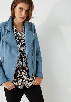 Куртка кожаная, Boss Hugo Boss, цвет: голубой. Артикул: BO010EWBHOQ3.