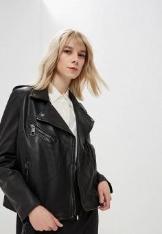 Куртка кожаная, Boss Hugo Boss, цвет  черный. Артикул  BO010EWDCVS0. Premium fd0e6f9ea37